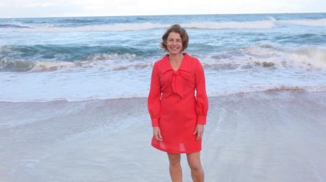 Red Dress Austinmer Beach